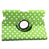 Generic New Ultra Slim Slim-Fit Lightweight Dot Pokla Pattern Design Series 360 Degree Rotating Swivel Stand PU Leather Smart Case Cover with Auto Sleep / Wake Feature Corner Protection & Multi-Angle Viewing for Kindle Fire HD 8.9 inch Tablet 8.9