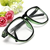 Fashion Oversized Retro Tortoise Shell Unisex Nerd Geek Clear Lens Plain Glasses 1PCS(color for choice)