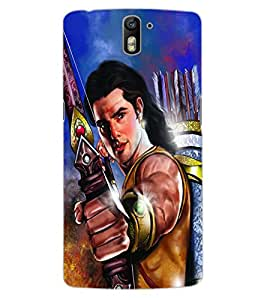 ColourCraft Lord Rama Design Back Case Cover for OnePlus One