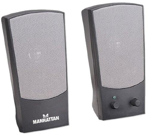 Manhattan 2150 2.0 Lautsprechersystem (Stromversorgung über USB, 4 Watt) schwarz