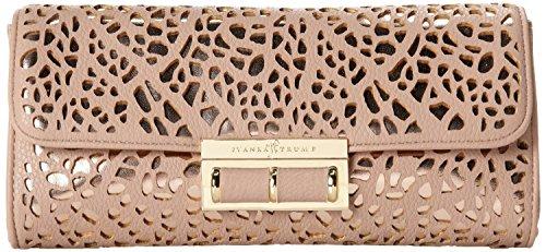 Ivanka Trump Pearl Pebble Lasercut Clutch,Bliss,One Size front-377192