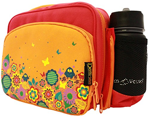 insulated lunch bag multi compartment bento box carrier tote garden design ebay. Black Bedroom Furniture Sets. Home Design Ideas