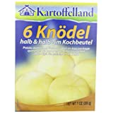 Kartoffelland 6 Knodel Halb & Halb (Half & Half Dumplings) in Cooking Bags,... by Kartoffelland
