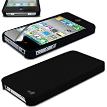 Ultra Thin Rubberized Matte Hard Case Back Cover For Apple IPhone 4s (Black)