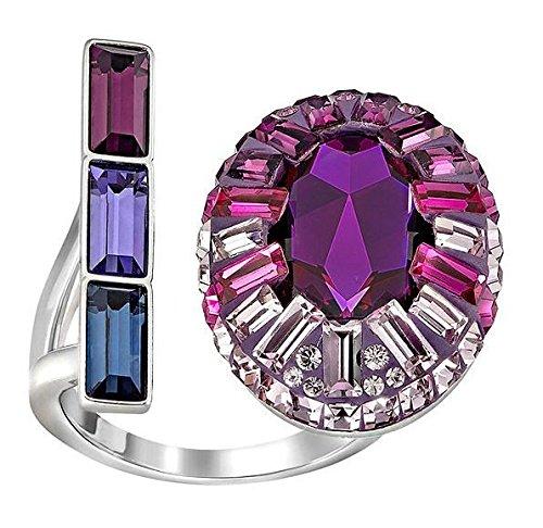 Swarovski donna-anello Eminence rodinato cristallo multicolore 52 (16,6) taglia - 5221520