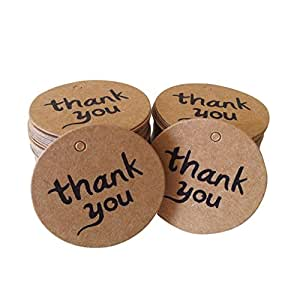 Amazon Wedding Gift Tags : Thank You Wedding Brown Kraft Paper Tag Bonbonniere Favor Gift Tags ...