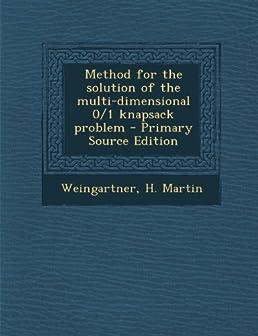 Knapsack problem dp solution