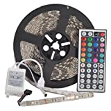 YHG 12v Flexible RGB LED Strip Light, LED Tape, Multi-colored, 300 Units 5050 Leds, waterproof, Adhesive Light Strips, Pack of 5m (Color: RGB (Red, Green, Blue), Tamaño: 5050)