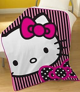 Hello Kitty Outline Pink Fleece Blanket