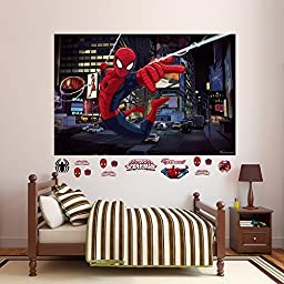 Fathead Ultimate Spider-Man Mural Real Big Wall Decal by Fathead