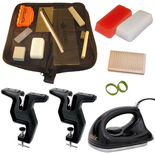 Dual Snowboard and Ski Everything Kit Vise Iron Tools Wax and More