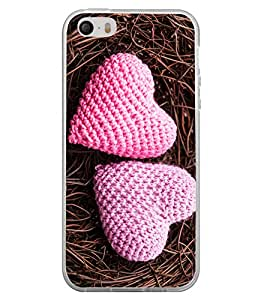Hearts Pair 2D Hard Polycarbonate Designer Back Case Cover for Apple iPhone 4