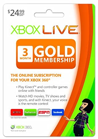 Xbox LIVE 3 Month Gold Membership [Online Game Code]