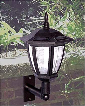 Solar Wall Lights White : Antique Wall Mounted Solar Light-2 pack-includes ground Stake - Landscape Lighting - Amazon.com