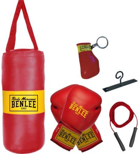 BENLEE Rocky Marciano 199077 - Kit boxe Punchy per bambino con sacco paracolpi, nero, misura unica