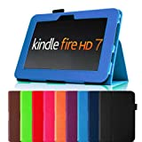 Fintie (Blue) Slim Fit Leather Case Cover Auto Sleep/Wake for Kindle Fire HD 7&quot; Tablet (will only fit Kindle Fire HD 7&quot;) - Multiple Color Options