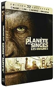 La Planète des Singes : Les origines [Combo Blu-ray + DVD + DVD bonus - Édition Collector boîtier SteelBook]
