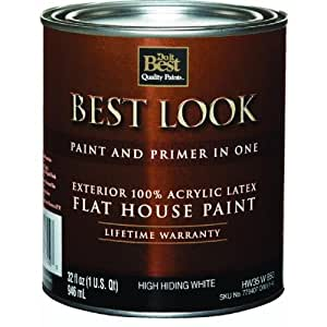 best look latex flat paint and primer in one exterior house paint ext. Black Bedroom Furniture Sets. Home Design Ideas