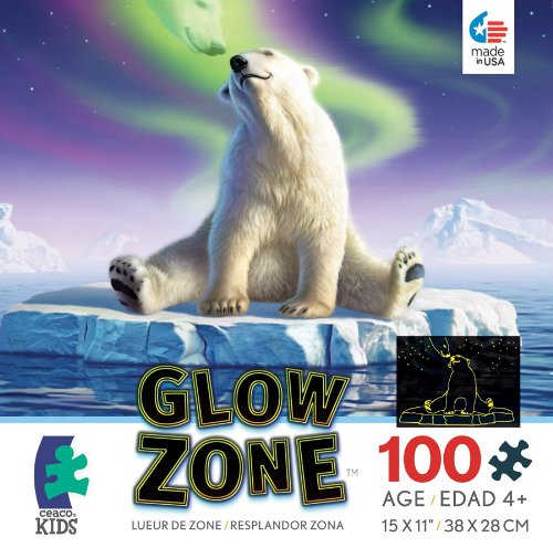 Ceaco Glow Zone Glow-in-the Dark Arctic Kiss Jigsaw Puzzle