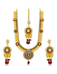 Sukkhi Glimmery Gold Plated Temple Jewellery Coin Long Necklace Set