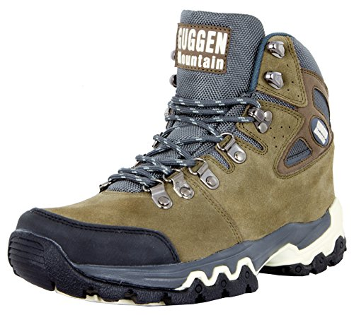 GUGGEN MOUNTAIN Scarpe da escursionismo Scarpe da trekking Scarpe da montagna Mountain Shoe uomo Marrone EU 43