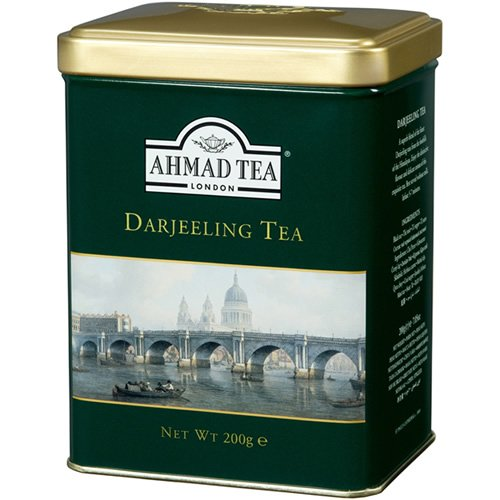 Ahmad Darjeeling Tea Tin Box Net Wt 200 G (7 Oz)