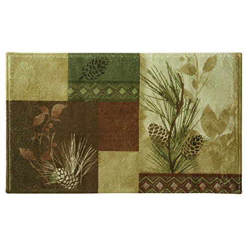 Bacova Guild Pine Cone Silhouettes Bath Rug Designed By