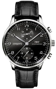 IWC Portuguese Chronograph Automatic Black Dial Men's Watch #IW371447