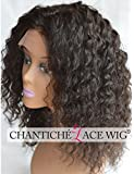Chantiche 100% Brazilian Remy Human Hair Wigs For African American Women Curly Lace Front & Full Lace Wigs For Black Women Middle Part 130 Density Medium Size Cap