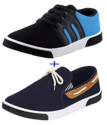 Earton COMBO Pack of 2 Pair of Shoes (Casual Shoe & Loafers & Mocassins)