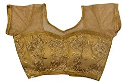 Maya Women's Net Blouse (11_38, Golden, 38)