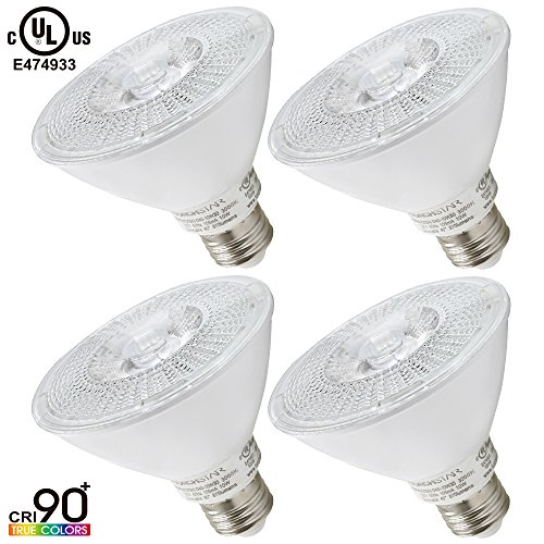 Torchstar #Wet Location# Dimmable PAR30 LED Light Bulb, High CRI90+, 10W (75W Equivalent), 3000K Warm White, 850Lm, E26 Medium Base, 3 YEARS WARRANTY, Pack of 4 (30 Par Led Lights compare prices)