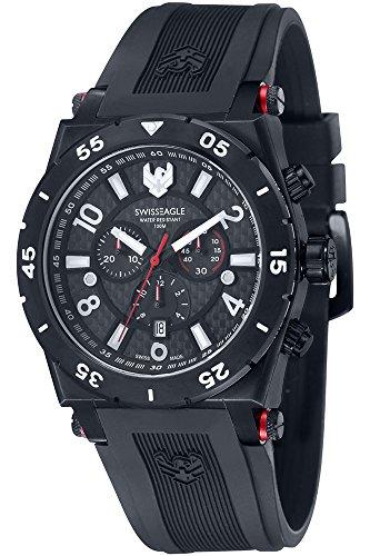 Swiss Eagle Reloj de cuarzo Svitzer Negro 46  mm