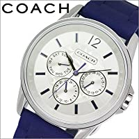 [コーチ]COACH ボーイズサイズ(男女兼用) 時計 Classic Signature Sport (クラシック シグネチャー スポーツ) シルバー×パープルネイビー【14501881】 [並行輸入品]