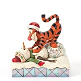 Jim Shore for Enesco Disney Traditions by Tigger with Snowman Figurine, 5.125-Inch