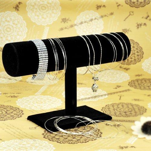 black-velvet-bracelet-anklet-short-t-bar-jewelry-watch-bangle-display-tower-rack-stand-by-himanjie