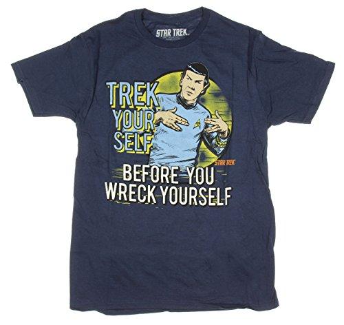 Star Trek Spock Trek Your Self Before You Wreck Yourself Graphic T-Shirt - Medium