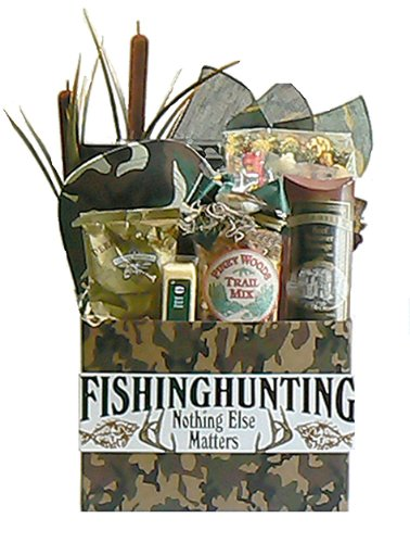 Nothing Matters but Fishing and Hunting Gift Basket Valentines Gift Idea for Him Fathers Day Gift Idea