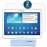 BIRUGEAR 2-Pack Premium HD Crystal Clear LCD Screen Protector for Samsung Galaxy Tab 3 10.1 - 10.1'' Tablet GT-P5200 / GT-P5210 with *Microfiber Cloth*