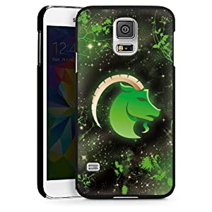 Galaxy S5 Case Cover Shell Hard Case black - The Sea-goat - Steinbock