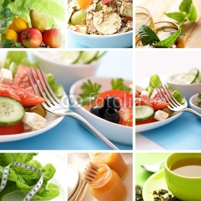 Healthy Food Collage - 48