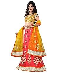 Krishna Emporia Women's Orange Designer Lehenga Choli