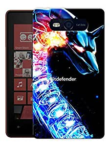 """Humor Gang Angry Dragon Printed Designer Mobile Back Cover For """"Nokia Lumia 820"""" (3D, Matte, Premium Quality Snap On Case)"""