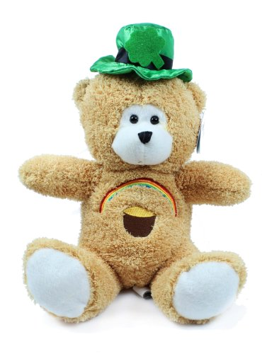 Beverly Hills Teddy Bear Co. St. Patrick's Day Bear with Rainbow