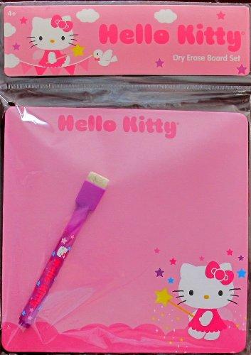 "Sanrio HELLO KITTY DRY ERASE BOARD Set w Board (7"" x 7"") & Dry Eraser ""Marker"""