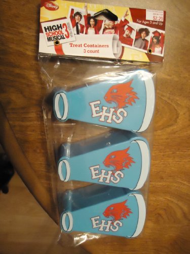 Disney High School Musical 3 Megaphone party favor Easter Treat Containers