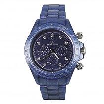 Toy Watch Pearlized Plasteramic - Indigo Chronograph Unisex watch #FLP18IN