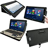 iGadgitz PU/GEN Leather Cases 'Portfolio Range' for ASUS (VIVO TAB -TF700 -TF101 -TF300) (Black (PU Leather))
