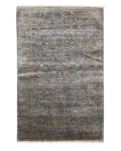 Darya Rugs Ziegler One of a Kind Rug, Green, 4' x 6'