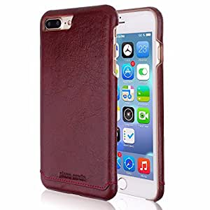 """appsTM Pierre Cardin For Apple iPhone 7 Plus 5.5"""" Brand Luxury Case Cover Pouch vine red"""